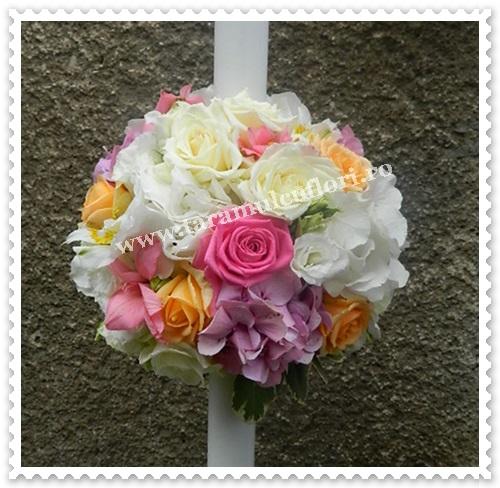 Lumanari de nunta colorate.6525
